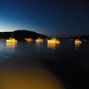 Fishing Boats at Night