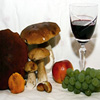 Mushrooms And Wine Jigsaw