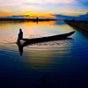 Sunset Fisherman Jigsaw